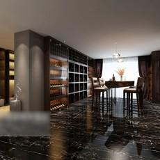 中式酒柜吧台3d模型下载