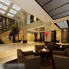 酒店大堂3d模型下载