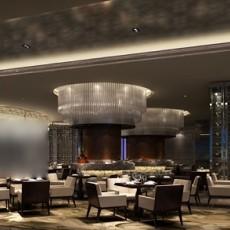工装餐厅桌椅3d模型下载