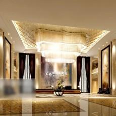 大厅吊顶吊灯3d模型下载