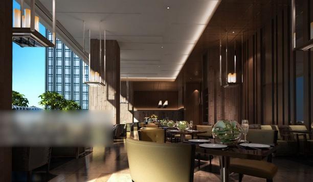 工装餐厅整体模型
