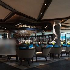 酒店餐厅3d模型下载