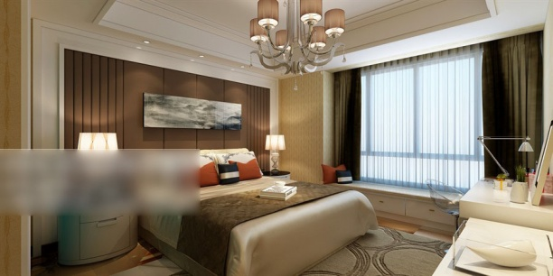 3d卧室背景墙模型