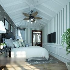 卧室风扇吊灯3d模型下载
