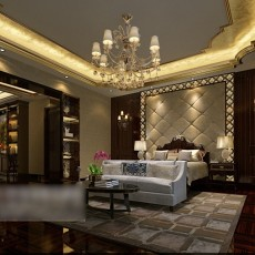 中式风格卧室3d模型下载