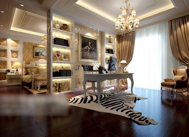 欧式风格书房3d模型