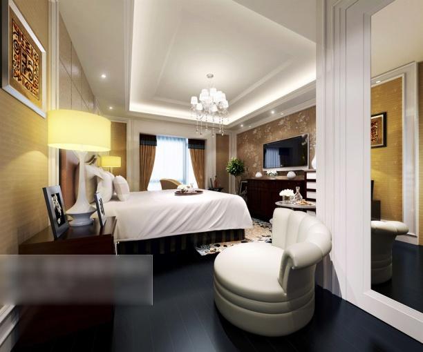 3d卧室灯具模型