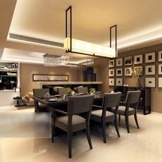 现代简约餐厅3d模型下载