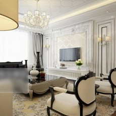 max室内客厅3d模型下载