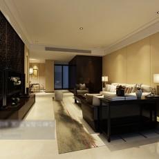 中式简约客厅3d模型下载