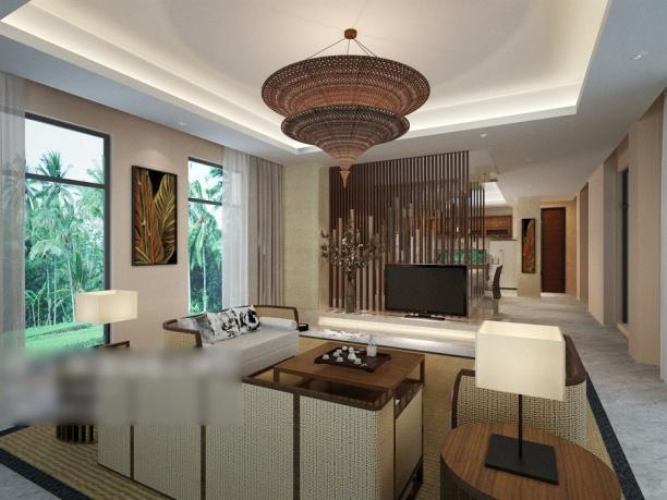 别墅客厅吊灯3d模型