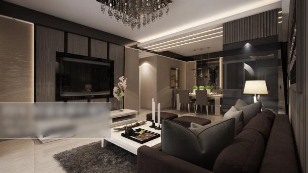 家装客厅沙发3d模型