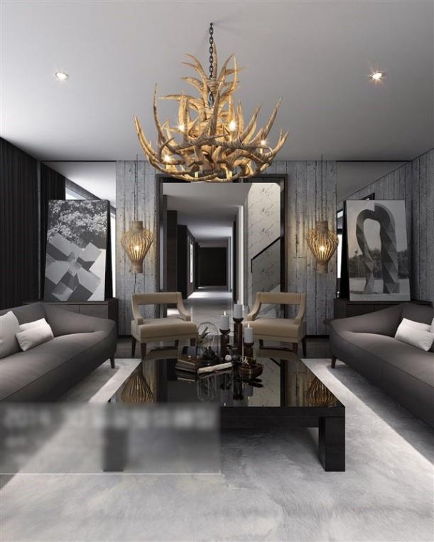 3d欧式客厅挂画模型