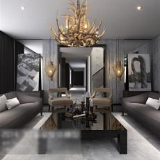 欧式客厅挂画3d模型下载