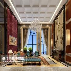 max客厅背景墙3d模型下载