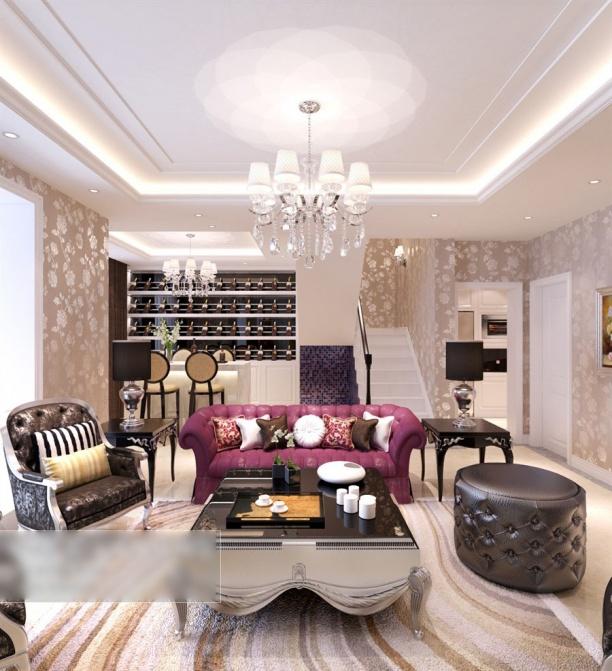 混搭客厅3d模型