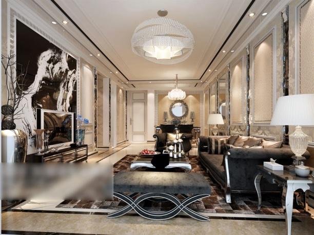 客厅挂画模型