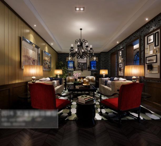 3d中式客厅模型下载