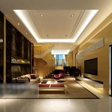 别墅客厅吊顶3d模型下载