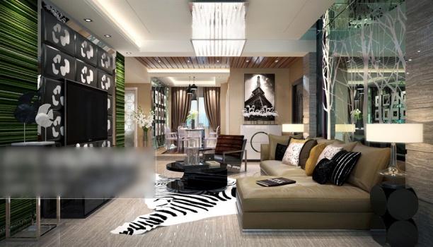 中式客厅吸顶灯模型