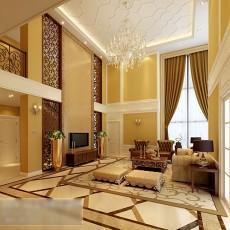 别墅客厅水晶灯3d模型下载