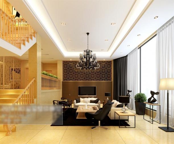 复式客厅3d模型