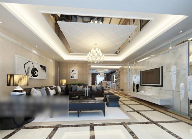 大户型客厅3d模型