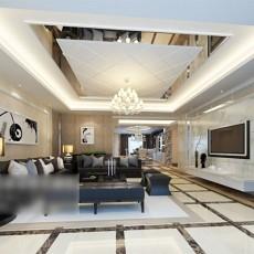 大户型客厅3d模型下载