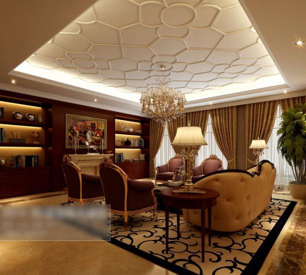 3d欧式客厅吊顶模型