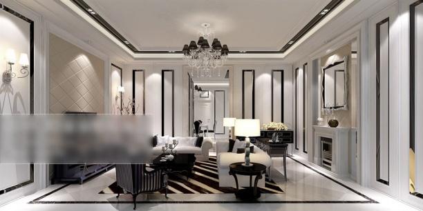 欧式客厅水晶灯模型