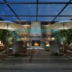 阳台场景3d模型下载