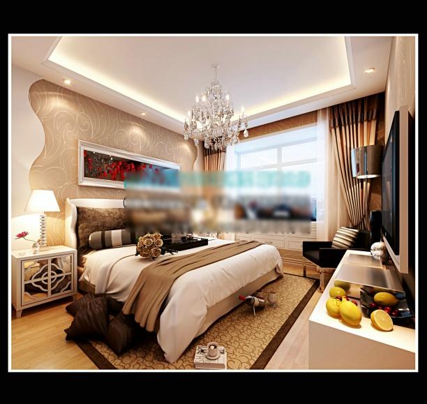 家装卧室背景墙模型