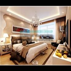 家装卧室背景墙3d模型下载