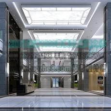 工装大堂吊顶3d模型下载