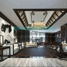 中式客厅桌椅3d模型下载
