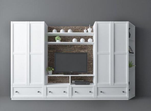 家装电视墙3d模型下载