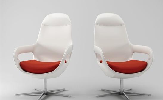 白色办公椅3d模型下载