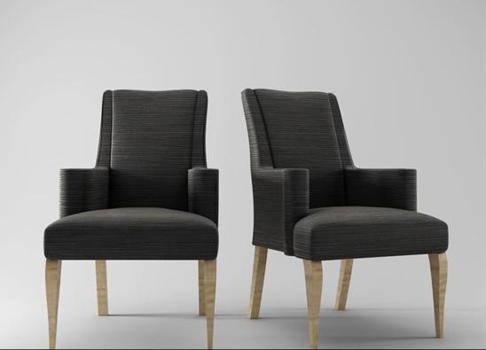现代扶手椅3d模型下载