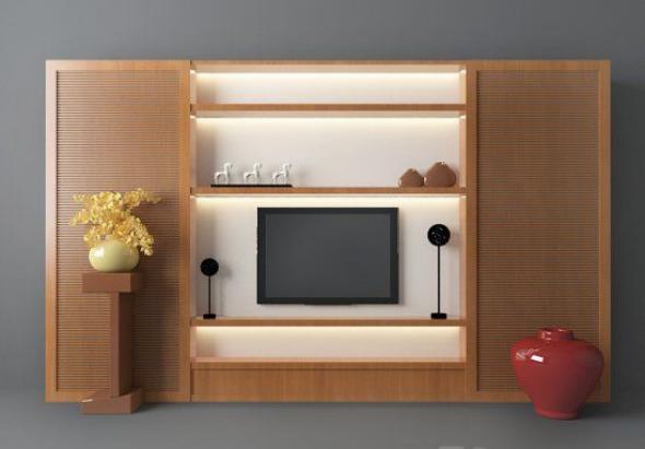 东南亚风格背景墙3d模型下载