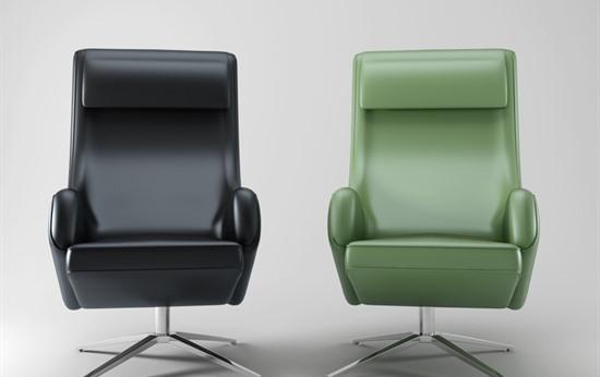 现代皮质座椅3d模型下载