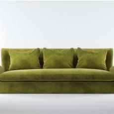绿色沙发免费3d模型下载
