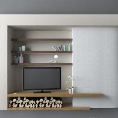 美式电视背景墙3d模型下载