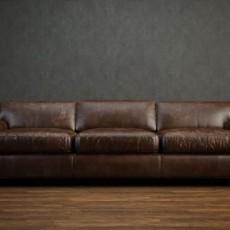 真皮沙发免费3d模型下载