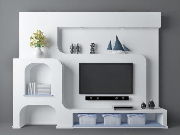 地中海风格电视墙3d模型下载