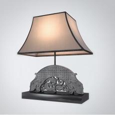 中式石雕元素台灯3d模型下载