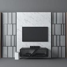 现代电视墙单体3d模型下载