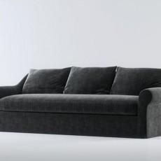 三人沙发免费3d模型下载