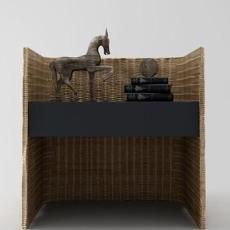 中式床头柜3d模型下载