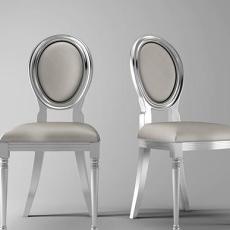 银色新古典单椅3d模型下载