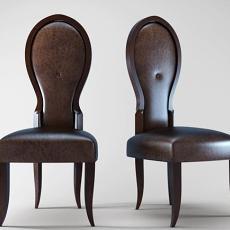 新古典皮质椅子3d模型下载